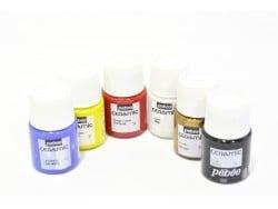 Set of 6 ceramic paint jars (20 ml each)