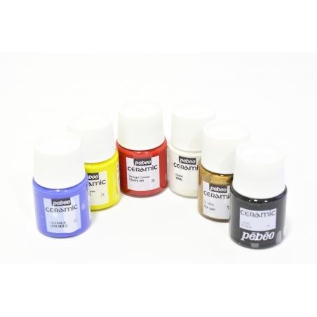 Acheter Set de 6 pots de peinture pour céramique / 20mL - 12,90€ en ligne sur La Petite Epicerie - 100% Loisirs créatifs