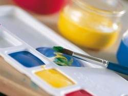 4 Fläschchen Primacolor-Gouache - Grundfarben