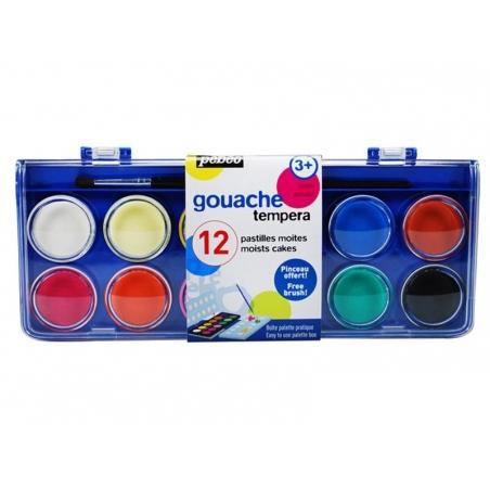 Acheter boite 12 pastille de gouaches moites - 4,00€ en ligne sur La Petite Epicerie - Loisirs créatifs