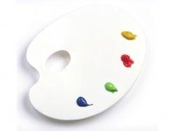 Oval palette - 22 cm x 17 cm