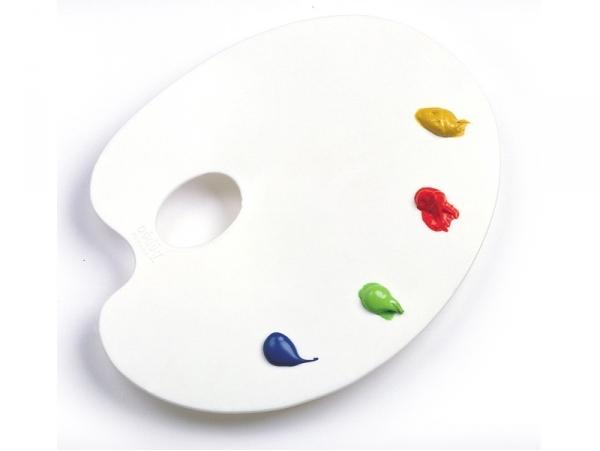 Palette ovale pour la peinture - 22x17cm