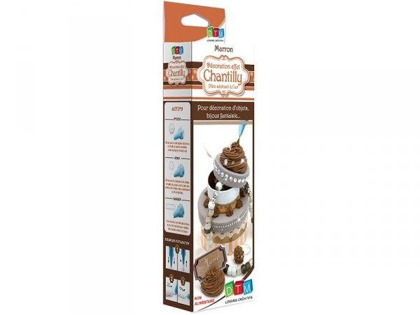 Whipped cream kit - chocolate-coloured