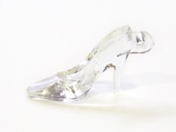 1 translucent Cinderalla shoe charm, 35 mm x 20 mm