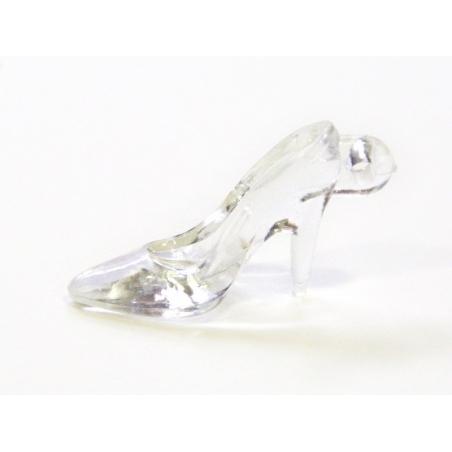 1 breloque chaussure de cendrillon translucide 35 x 20 mm  - 1