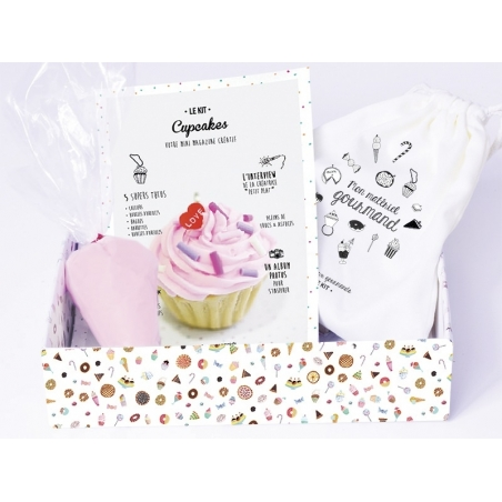 DIY kit - Mes bijoux gourmands - Cupcakes