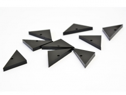 1 breloque plexiglas - triangle 28 x 14 mm