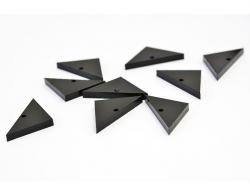 1 Plexiglasanhänger - dreieckig, 28 mm x 14 mm