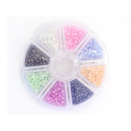 Acheter Boite de perles rocaille à 8 compartiments - nacrées L - 6,99€ en ligne sur La Petite Epicerie - Loisirs créatifs