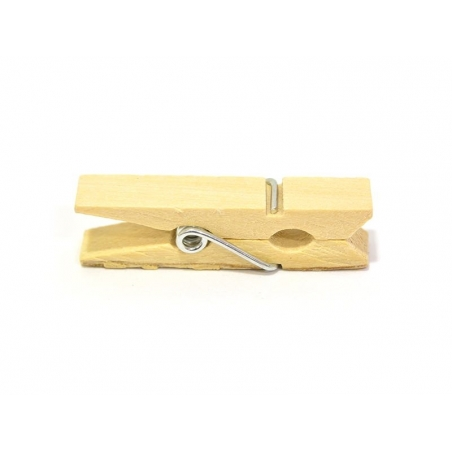 50 mini wooden clothes-pegs - nature