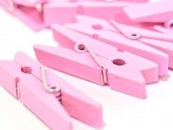 50 kleine Holzwäscheklammern - rosa