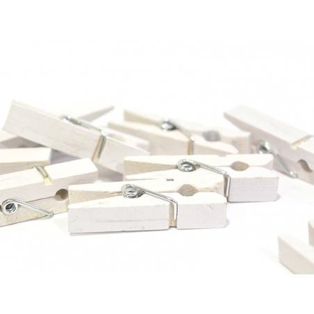 Acheter 50 mini pinces en bois - blanc - 3,90€ en ligne sur La Petite Epicerie - Loisirs créatifs