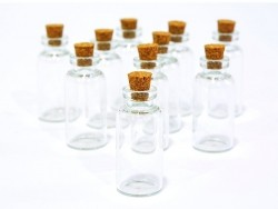 1 fiole en verre 4,5 cm   - 3