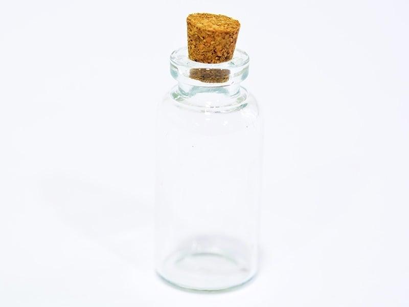 1 fiole en verre 4,5 cm   - 1