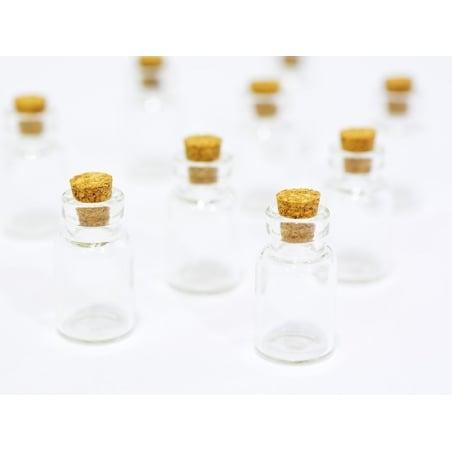 10 fioles en verre 2,6 cm