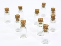 10 glass bottles - 2.3 cm
