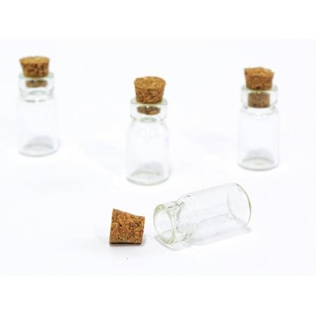 10 fioles en verre 2,3 cm