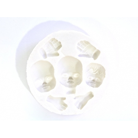 WePAM silicone mould with 3 faces and 4 hands