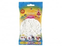 Sachet de 1000 perles HAMA MIDI classiques - blanc