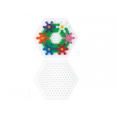 Plaque support pour perles HAMA MIDI classiques - hexagone Hama - 3