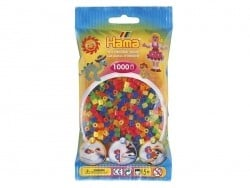 Sachet de 1000 perles HAMA MIDI classiques - fluo translucides
