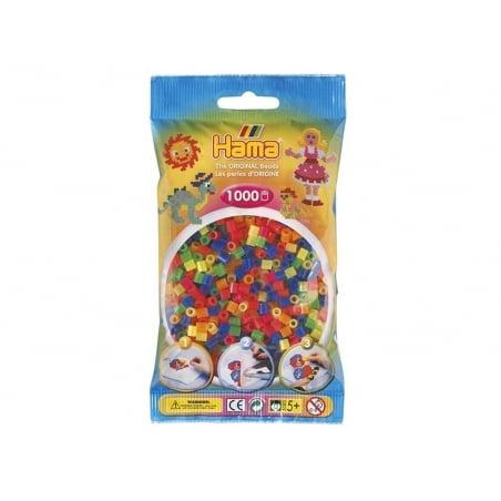 Acheter Sachet de 1000 perles HAMA MIDI classiques - fluo translucides 51 - 3,15€ en ligne sur La Petite Epicerie - Loisirs ...
