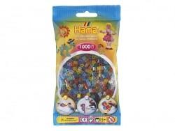 Tüte mit 1.000 klassichen HAMA-Midi-Perlen - durchscheinende Farben
