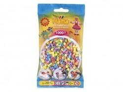 Sachet de 1000 perles HAMA MIDI classiques - couleurs pastelles 50 Hama - 1