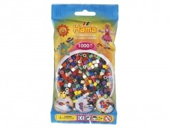 Bag of 1,000 classic HAMA MIDI beads - multiple colours