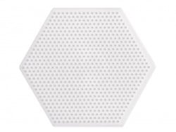 plaque support pour perles HAMA MINI - hexagone