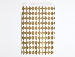 10 pochettes cadeaux - losanges dorés