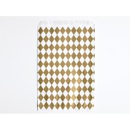 10 pochettes cadeaux - losanges dorés My little day - 1