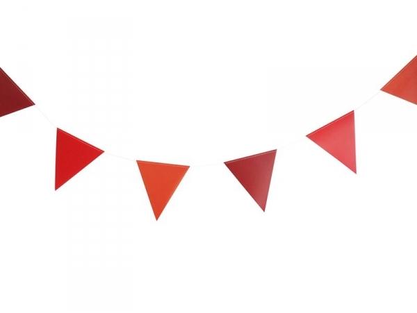 Guirlande Fanions rouges