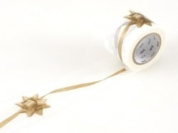 Masking tape motif ruban cadeau doré - 35 mm Masking Tape - 1