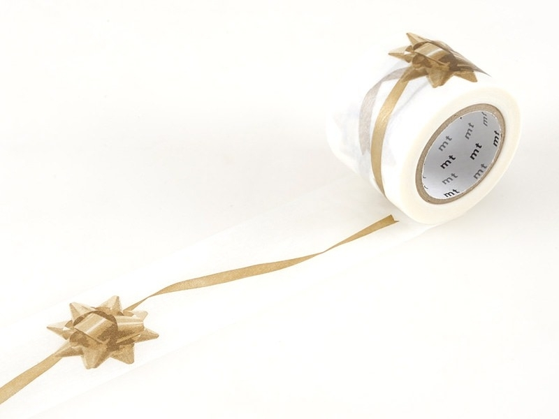 Masking Tapewith a golden ribbon pattern - 35mm