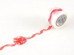 Masking tape motif ruban cadeau rouge - 35 mm