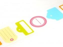 Masking tape motif étiquette tag - 50 mm