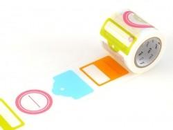 Masking tape motif étiquette tag - 50 mm Masking Tape - 1
