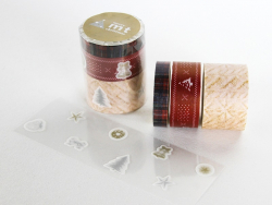 Masking Tapewith a Christmas pattern - set consisting of 3 rolls + stickers