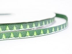 Grosgrain ribbon (1 m) - Christmas trees - 10 mm