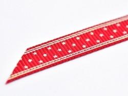 1m ruban gros grain bordeaux étoilé - 10 mm  - 3