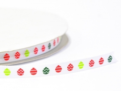 Ribbon (1 m) - Christmas tree balls (9 mm)