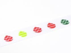 Ribbon (1 m) - Christmas tree balls (9 mm)