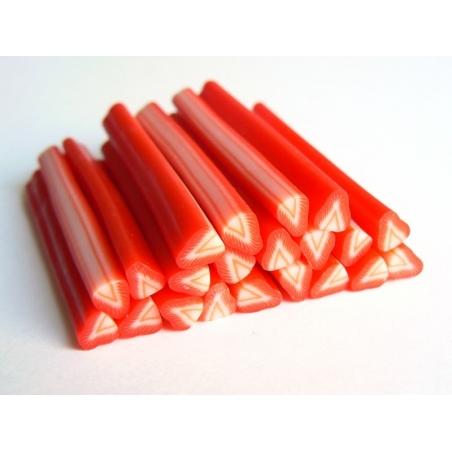 Cane fraise - en pâte polymère  - 7