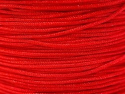 1 m of braided nylon cord, 1 mm - red