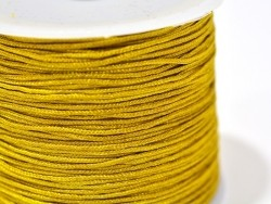 1 m of braided nylon cord, 1 mm - ochre