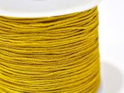 1 m de fil de jade / fil nylon tressé 1 mm - ocre moutarde brillant