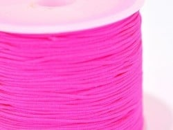 1 m of braided nylon cord, 1 mm - neon pink