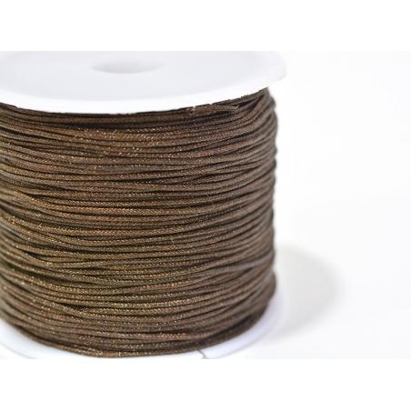 1 m of braided nylon cord, 1 mm - chocolate brown