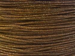 1 m de fil de jade / fil nylon tressé 1 mm - marron chocolat